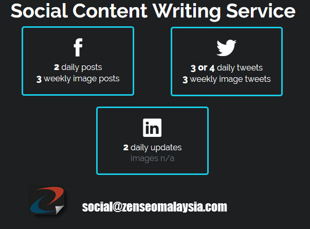 social media content writing service
